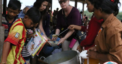 Meal time at Cambodian Children Center