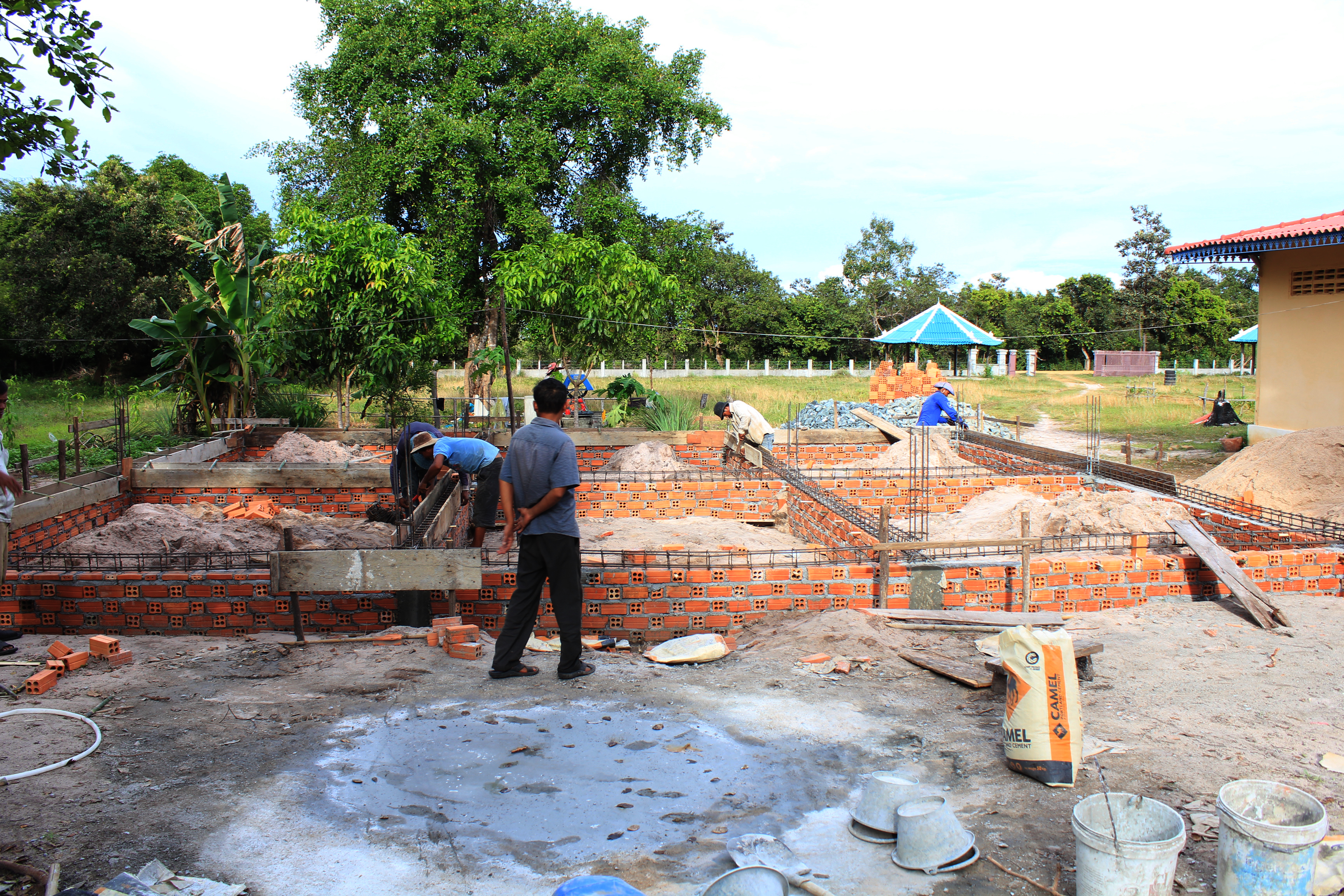 Cambodian Children Center begins kitchen construction